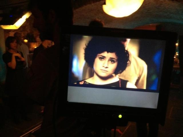 Yasmin as 'Beth' through the camera monitor